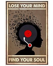 Afro Vinyl Head lose my mind  11x17 Poster front