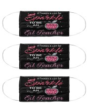 esl teacher sparkle mas  Cloth Face Mask - 3 Pack front