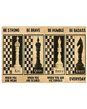 chess be strong 4 pt lqt nna 17x11 Poster front