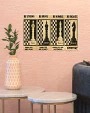 chess be strong 4 pt lqt nna 17x11 Poster poster-landscape-17x11-lifestyle-21