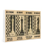 chess be strong 4 pt lqt nna 24x16 Gallery Wrapped Canvas Prints thumbnail