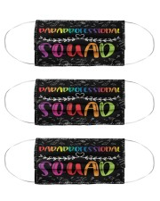 paraprofessional squad mas  Cloth Face Mask - 3 Pack front