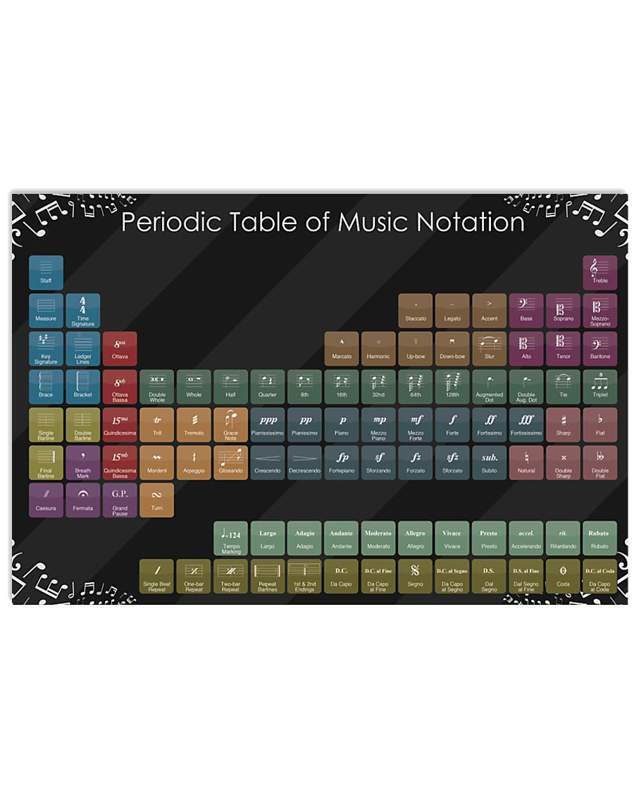 Periodic table of music notation 17x11 Poster