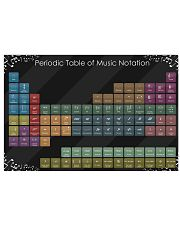 Periodic table of music notation 17x11 Poster front