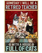 Retired Teacher House Full Of Cat pt lqt-ntv 11x17 Poster front