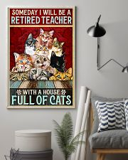 Retired Teacher House Full Of Cat pt lqt-ntv 11x17 Poster lifestyle-poster-1