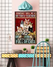 Retired Teacher House Full Of Cat pt lqt-ntv 11x17 Poster lifestyle-poster-6