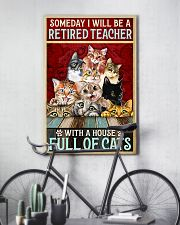 Retired Teacher House Full Of Cat pt lqt-ntv 11x17 Poster lifestyle-poster-7