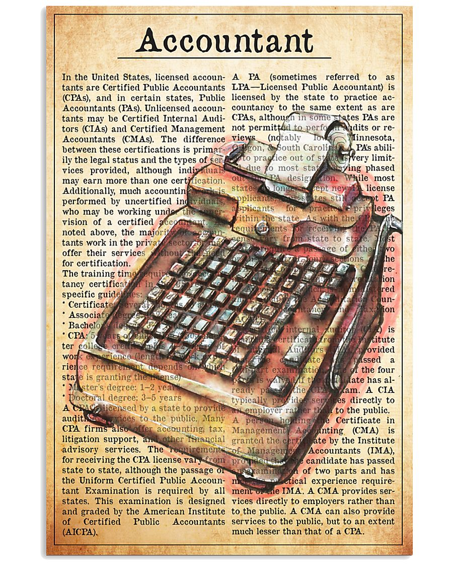 accountant text watercolor 1 16x24 Poster