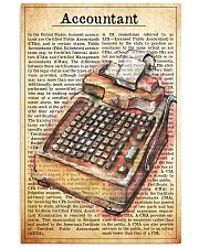 accountant text watercolor 1 16x24 Poster front