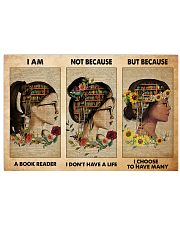 book girl i am a reader pt phq-NTH 17x11 Poster front