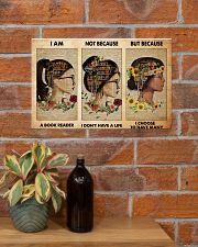 book girl i am a reader pt phq-NTH 17x11 Poster poster-landscape-17x11-lifestyle-23