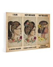 book girl i am a reader pt phq-NTH 24x16 Gallery Wrapped Canvas Prints thumbnail