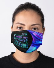 Never underestimate a lunch lady neon mas Cloth Face Mask - 3 Pack aos-face-mask-lifestyle-01