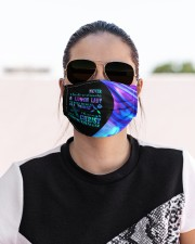 Never underestimate a lunch lady neon mas Cloth Face Mask - 3 Pack aos-face-mask-lifestyle-02