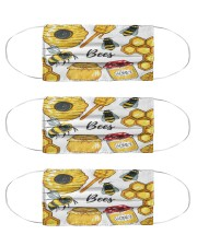bee clip art mas Cloth Face Mask - 3 Pack front