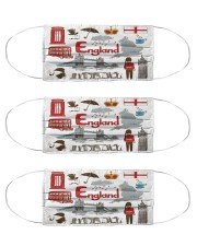 england map mas  Cloth Face Mask - 3 Pack front