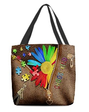autism choose kind all over tote lqt cva  All-over Tote back