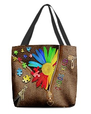 autism choose kind all over tote lqt cva  All-over Tote front
