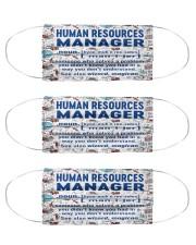 human resources noun mas  Cloth Face Mask - 3 Pack front