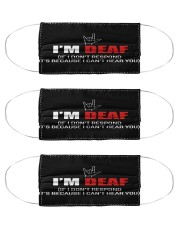 sign language I am deaf not respond mas Cloth Face Mask - 3 Pack front