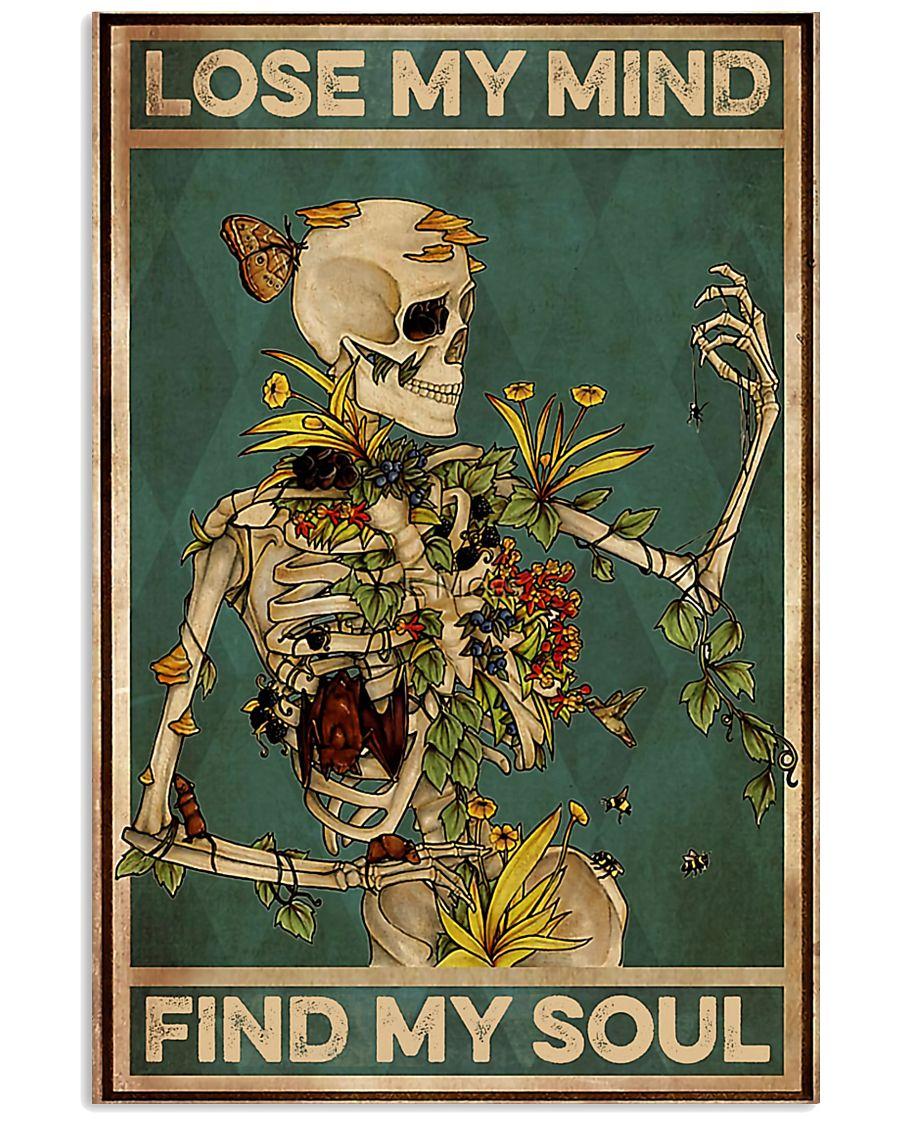 gardening skull Lose My Mind 11x17 Poster
