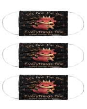 Multiple Sclerosis It's fine I'm fine mas  Cloth Face Mask - 3 Pack front