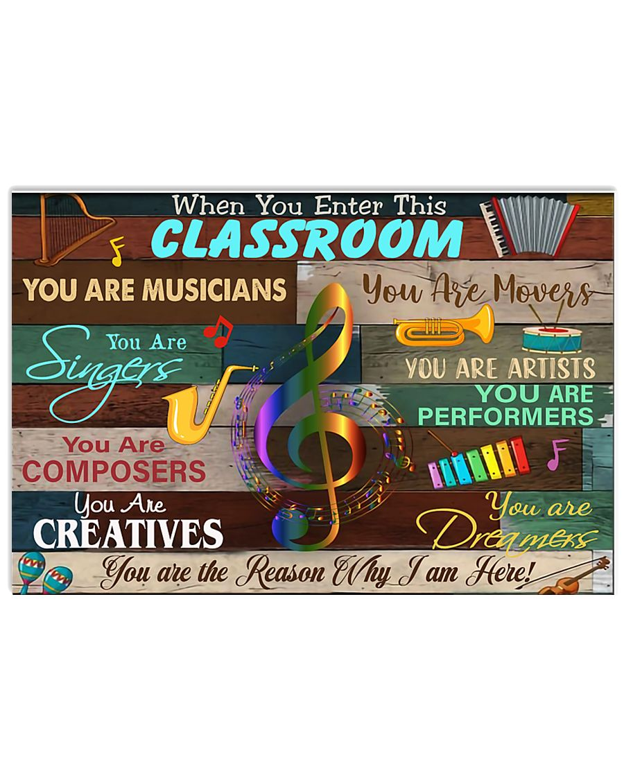 enter this music room 17x11 Poster
