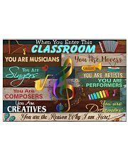 enter this music room 17x11 Poster front