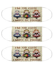 so cute be polish girl mas  Cloth Face Mask - 3 Pack front