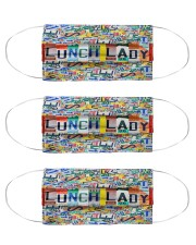lunch lady plates mas  Cloth Face Mask - 3 Pack front