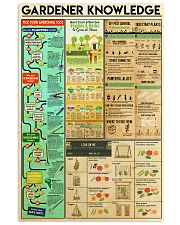 gardener knowledge 11x17 Poster front
