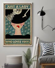 Just A Lady Who Loves Vinyl 11x17 Poster lifestyle-poster-1