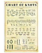 scouting the chart of knots 24x36 Poster front