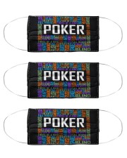poker typographic mas  Cloth Face Mask - 3 Pack front