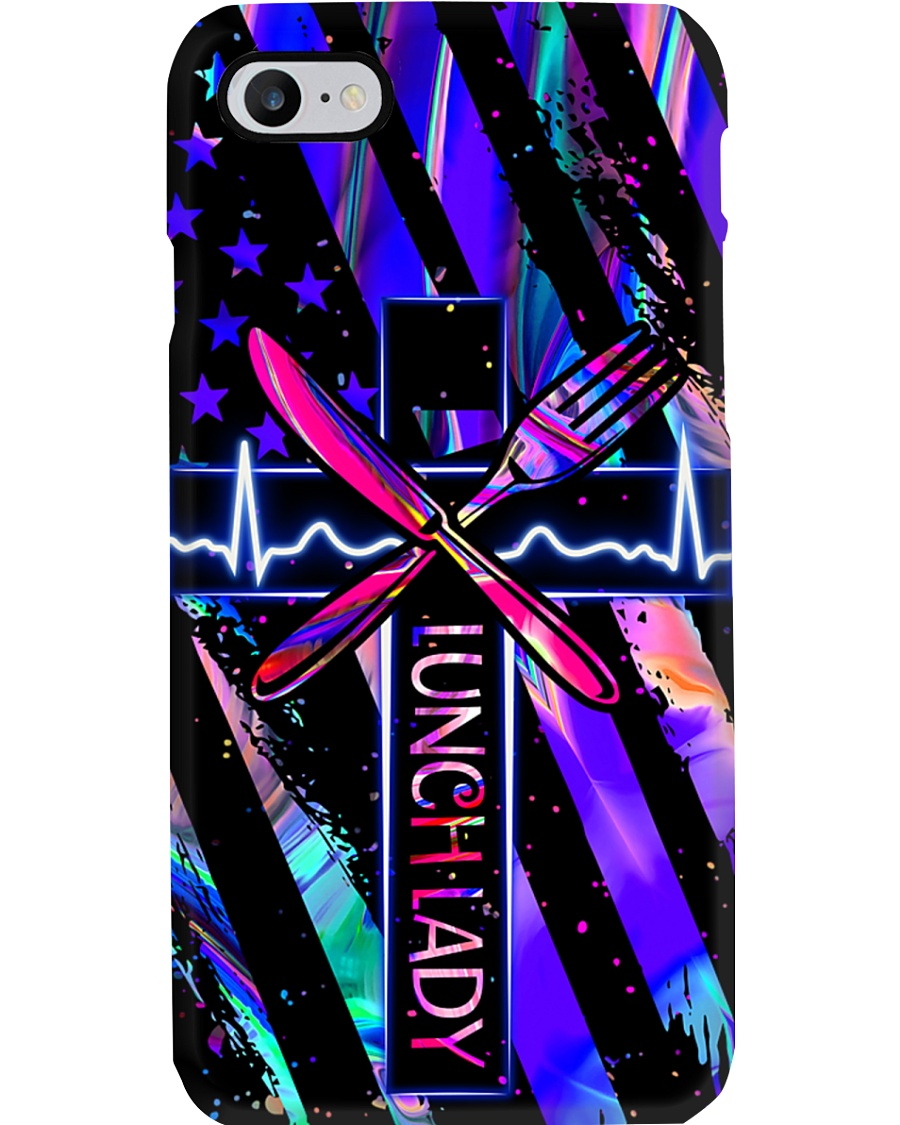 lunch lady neon Phone Case