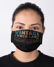 vintage lunch lady mas Cloth Face Mask - 3 Pack aos-face-mask-lifestyle-01