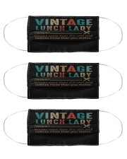 vintage lunch lady mas Cloth Face Mask - 3 Pack front