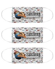 librarian vintage mas  Cloth Face Mask - 3 Pack front