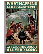 camping skiing gets laughed poster 11x17 Poster front