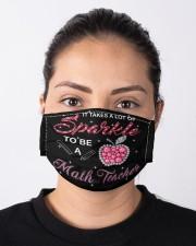 math teacher sparkle mas Cloth Face Mask - 3 Pack aos-face-mask-lifestyle-01