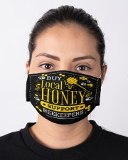 Buy Local Honey Support Beekeepers mas  Cloth Face Mask - 3 Pack aos-face-mask-lifestyle-01