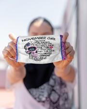november girl skull mas  Cloth Face Mask - 3 Pack aos-face-mask-lifestyle-07