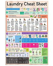 Laundry cheat sheet Information 24x36 Poster front