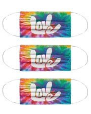 love sign language hippie mas  Cloth Face Mask - 3 Pack front
