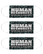 Human Resources judge people mas  Cloth Face Mask - 3 Pack front