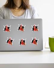 chicken crack sticker Sticker - 6 pack (Vertical) aos-sticker-6-pack-vertical-lifestyle-front-21a