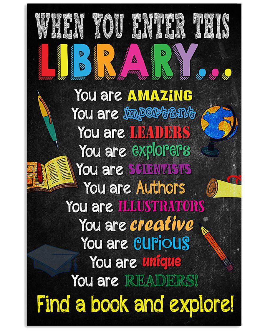 Library-enter-reader 11x17 Poster
