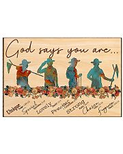 scout god says you are poster 17x11 Poster front