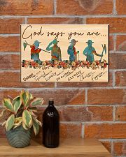scout god says you are poster 17x11 Poster poster-landscape-17x11-lifestyle-23